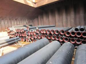 vận chuyển ống gang bằng đường biển